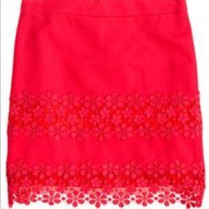 J. Crew Factory Daisy Lace Jcrew Skirt